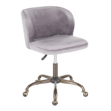 OC-FRAN ANVSV Fran Contemporary Task Chair in Silver