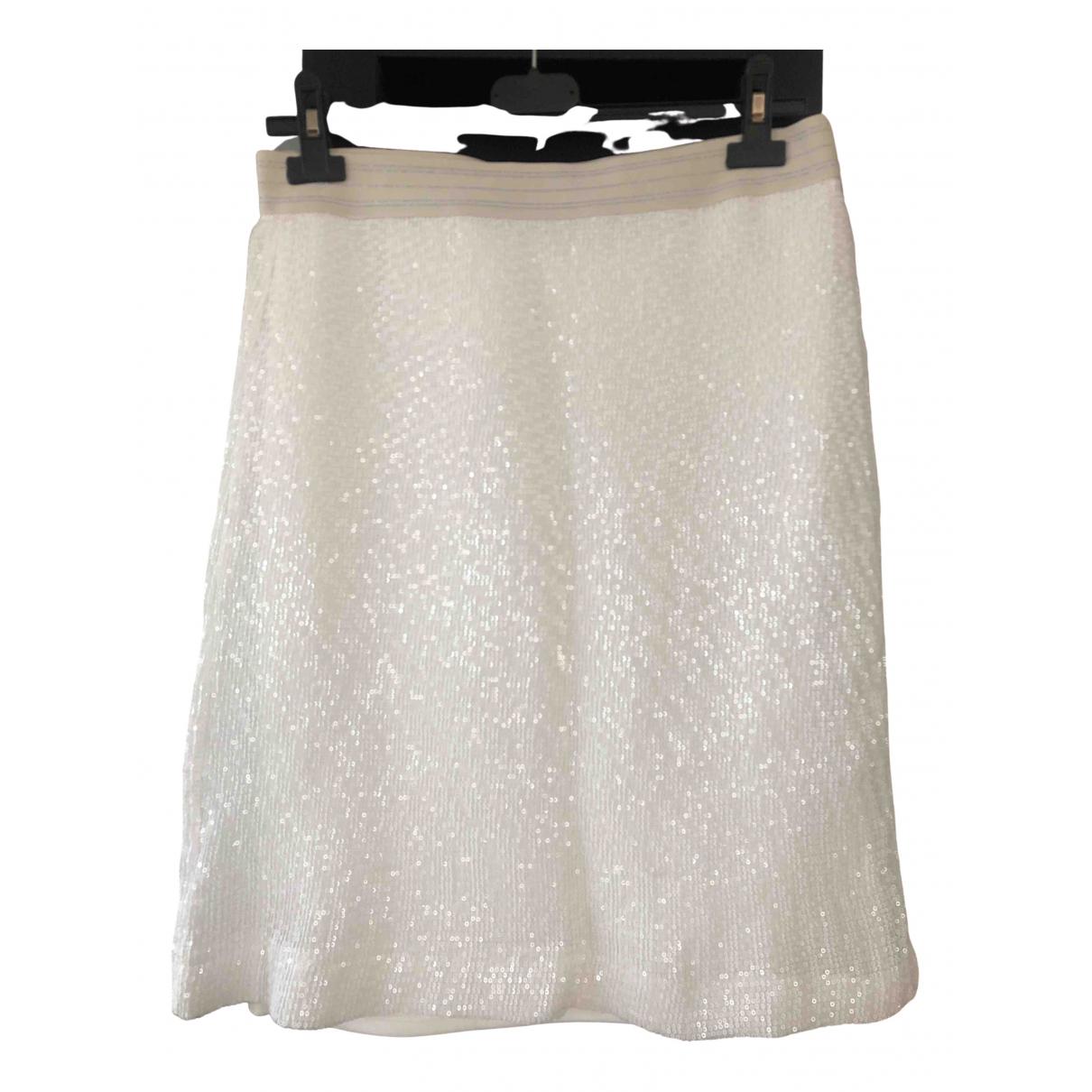 Zara N White Glitter skirt for Women M International
