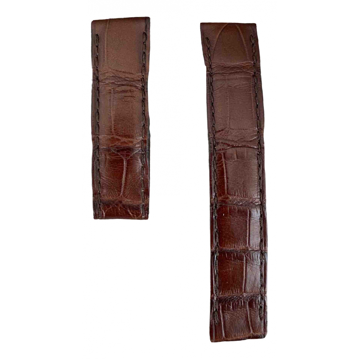 Autre Marque \N Brown Exotic leathers watch for Women \N