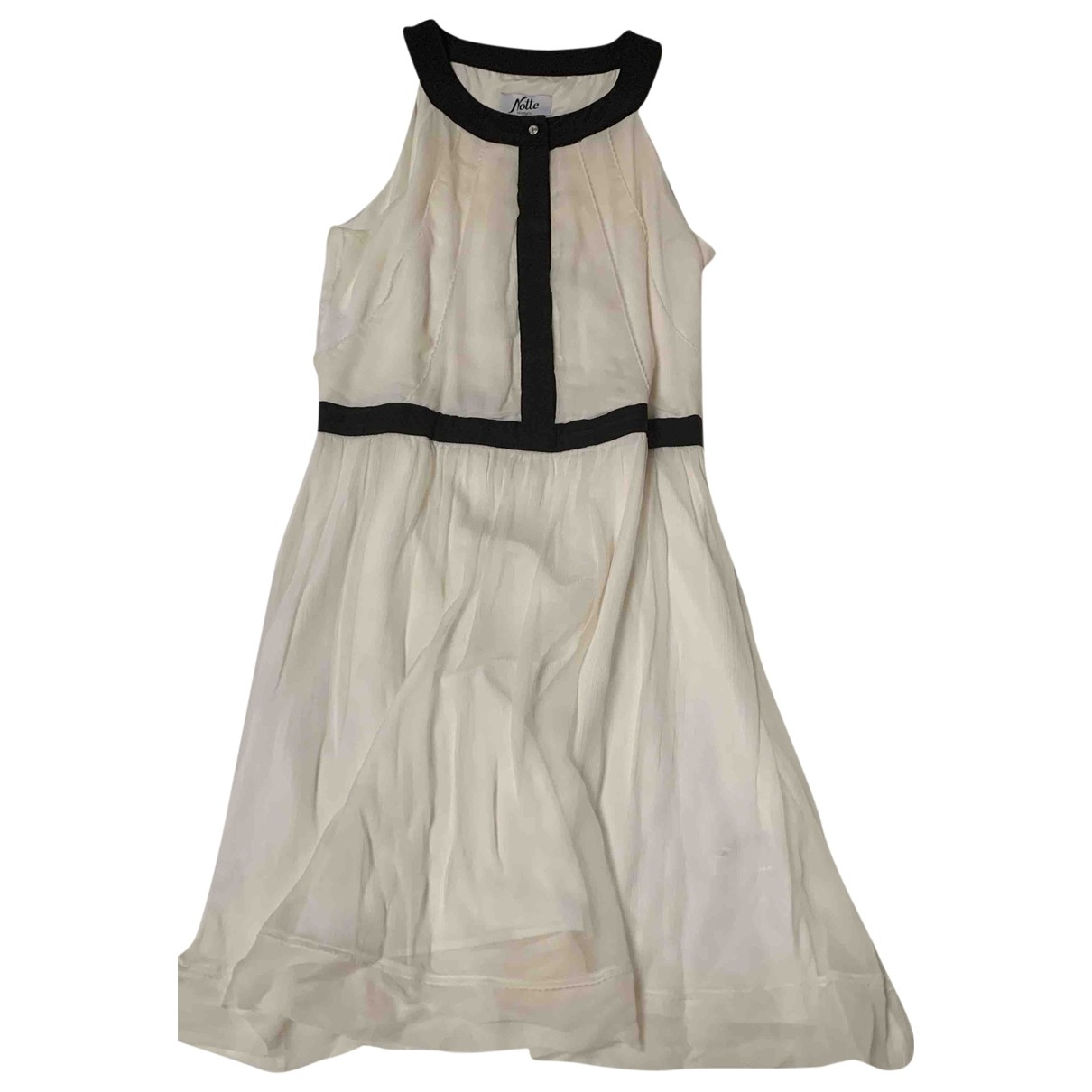 Max & Co \N White Silk dress for Women 48 IT