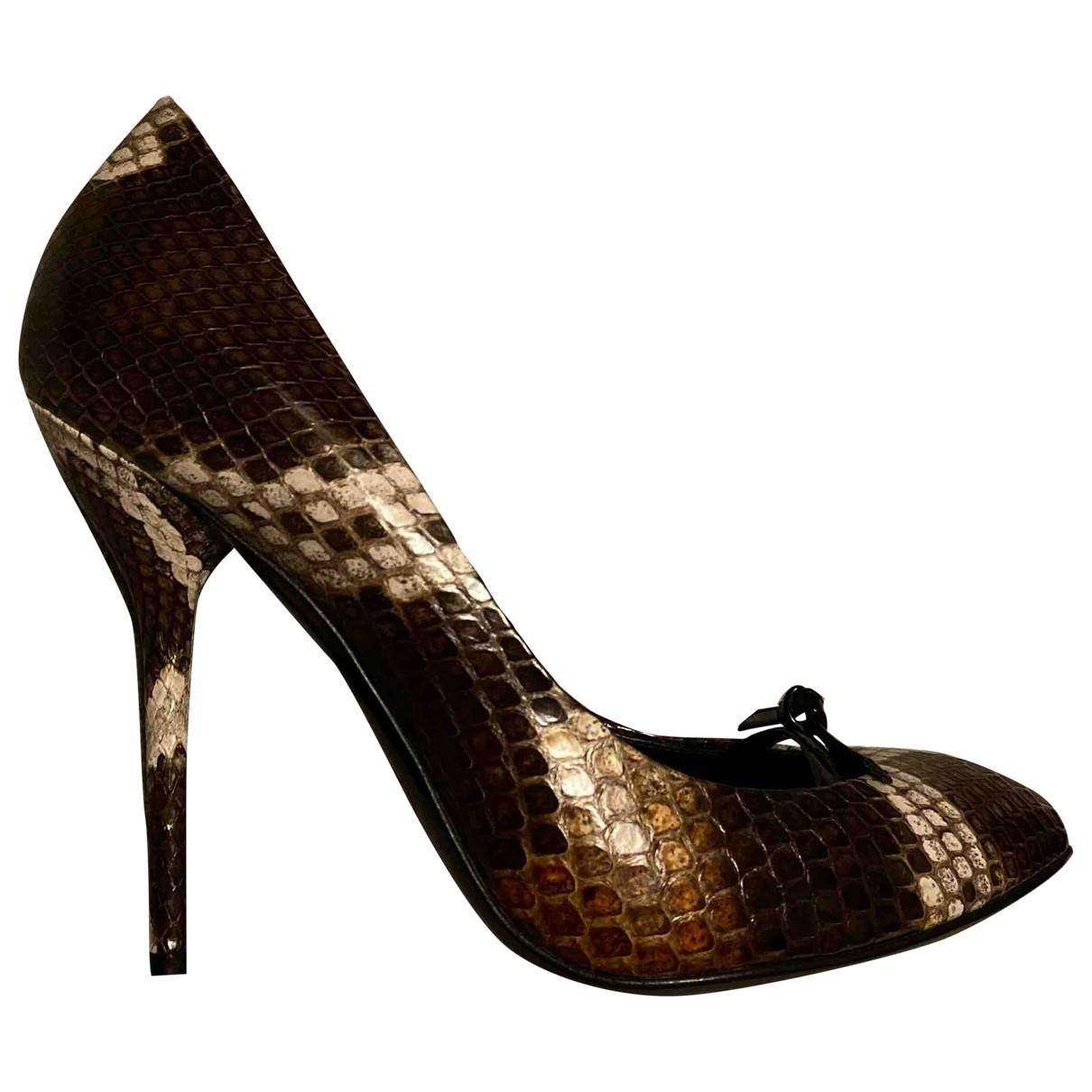 Gucci - Escarpins   pour femme en python - multicolore