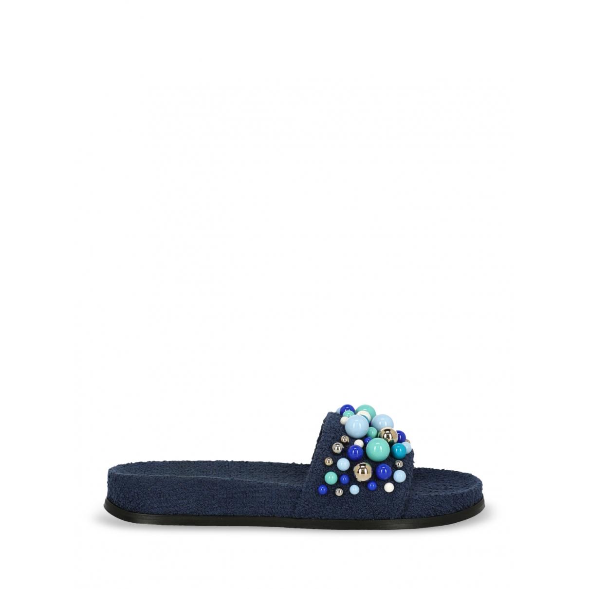 Aquazzura - Sandales   pour femme en toile - bleu