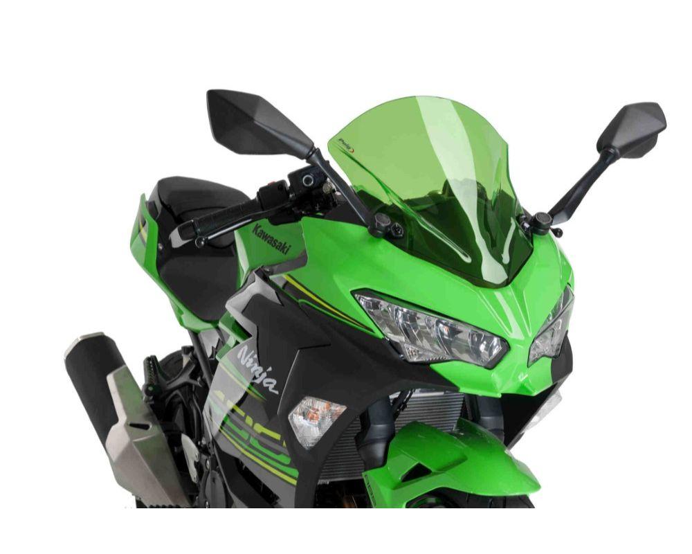 Puig 9976V Z-Racing Windscreen - Green Kawasaki Ninja 400 2018