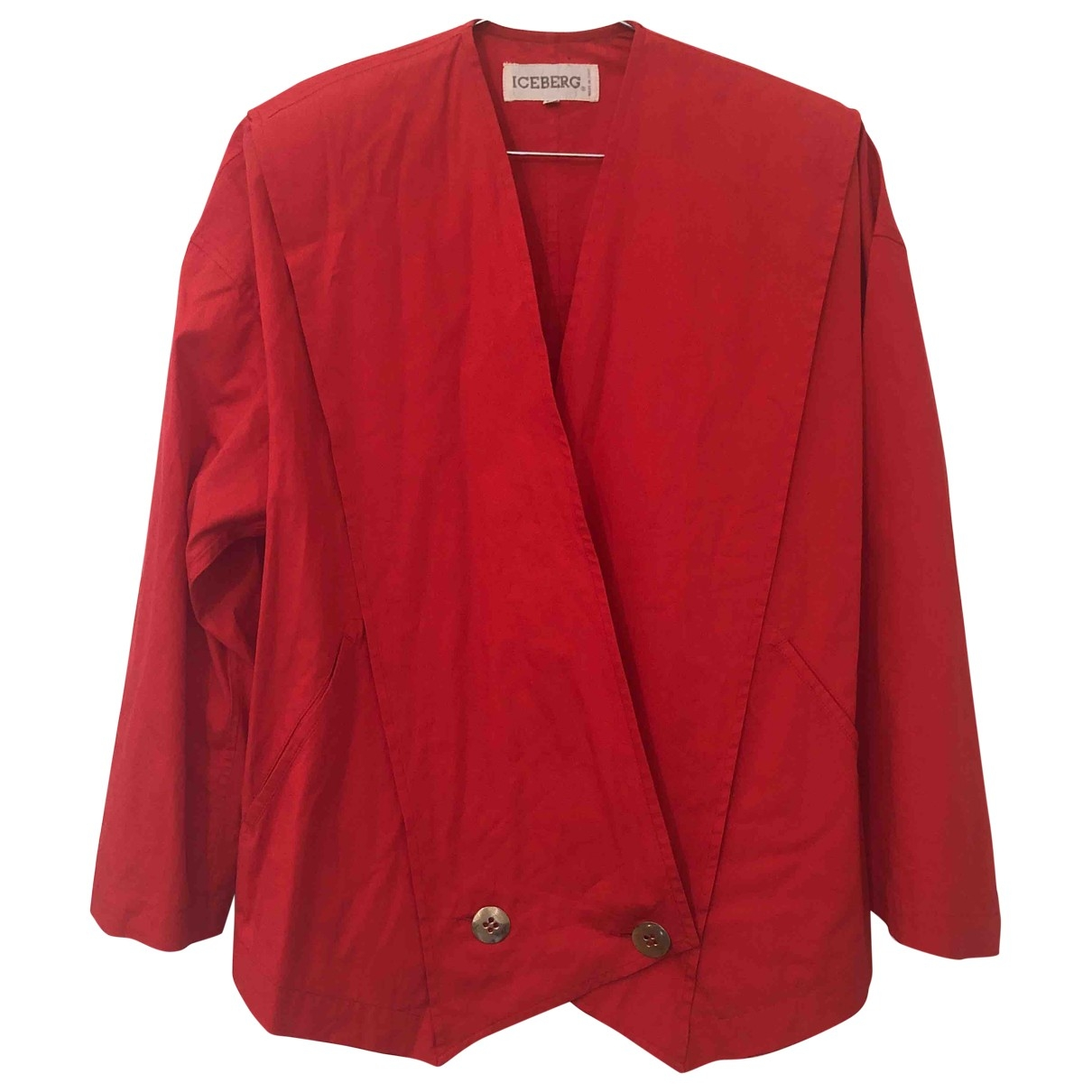 Iceberg \N Red Cotton jacket for Women 38 IT