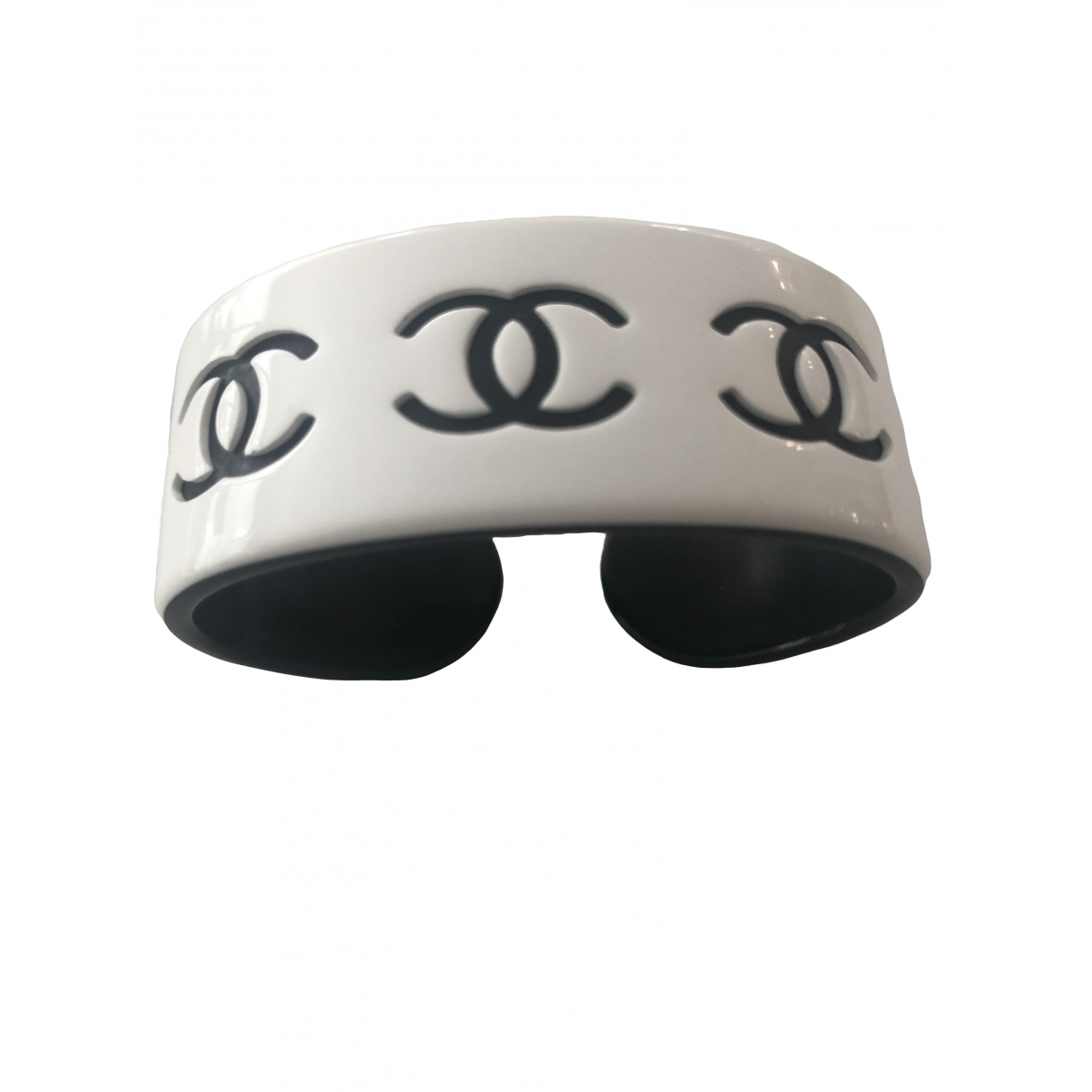 Chanel - Bracelet CC pour femme - blanc