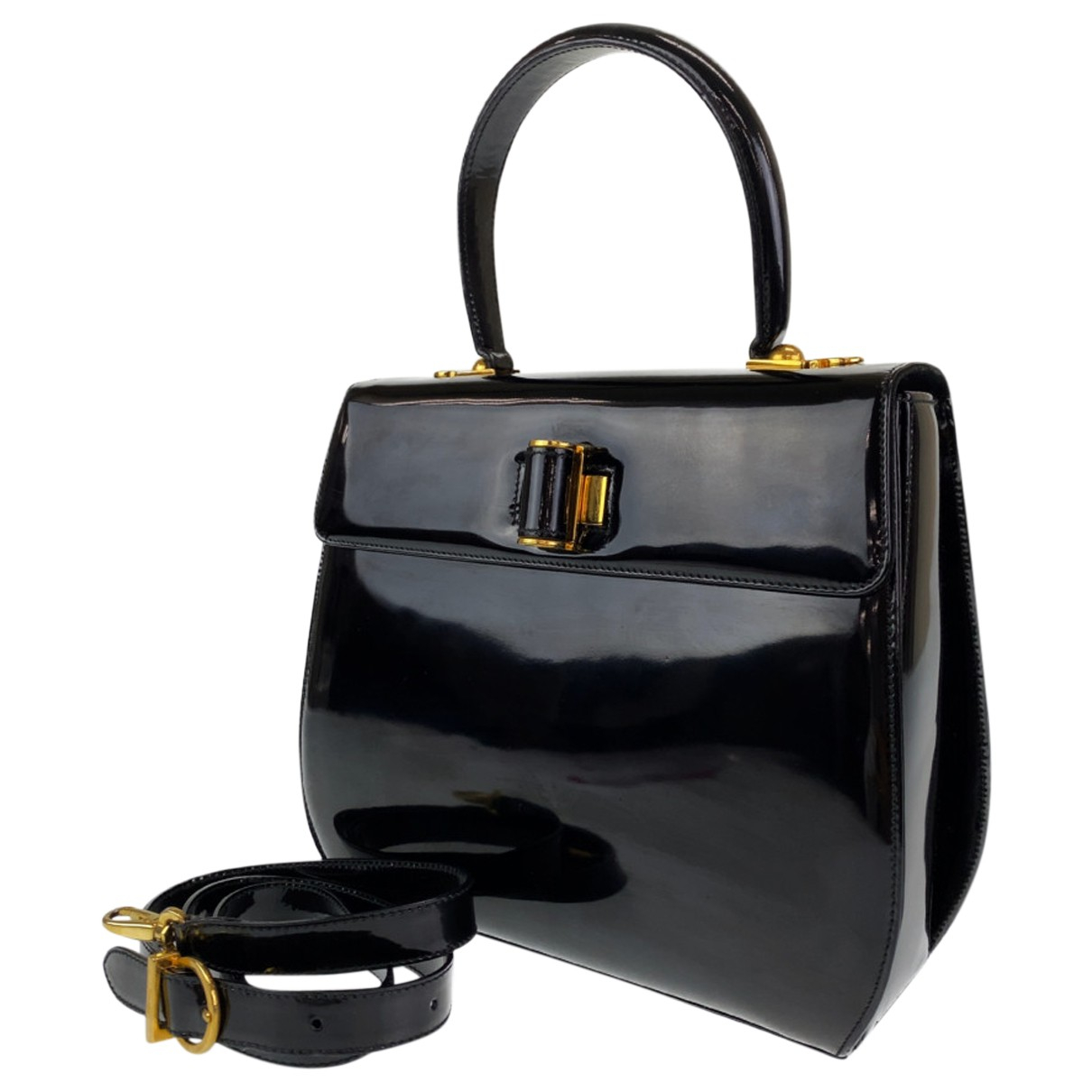 Salvatore Ferragamo N Patent leather handbag for Women N