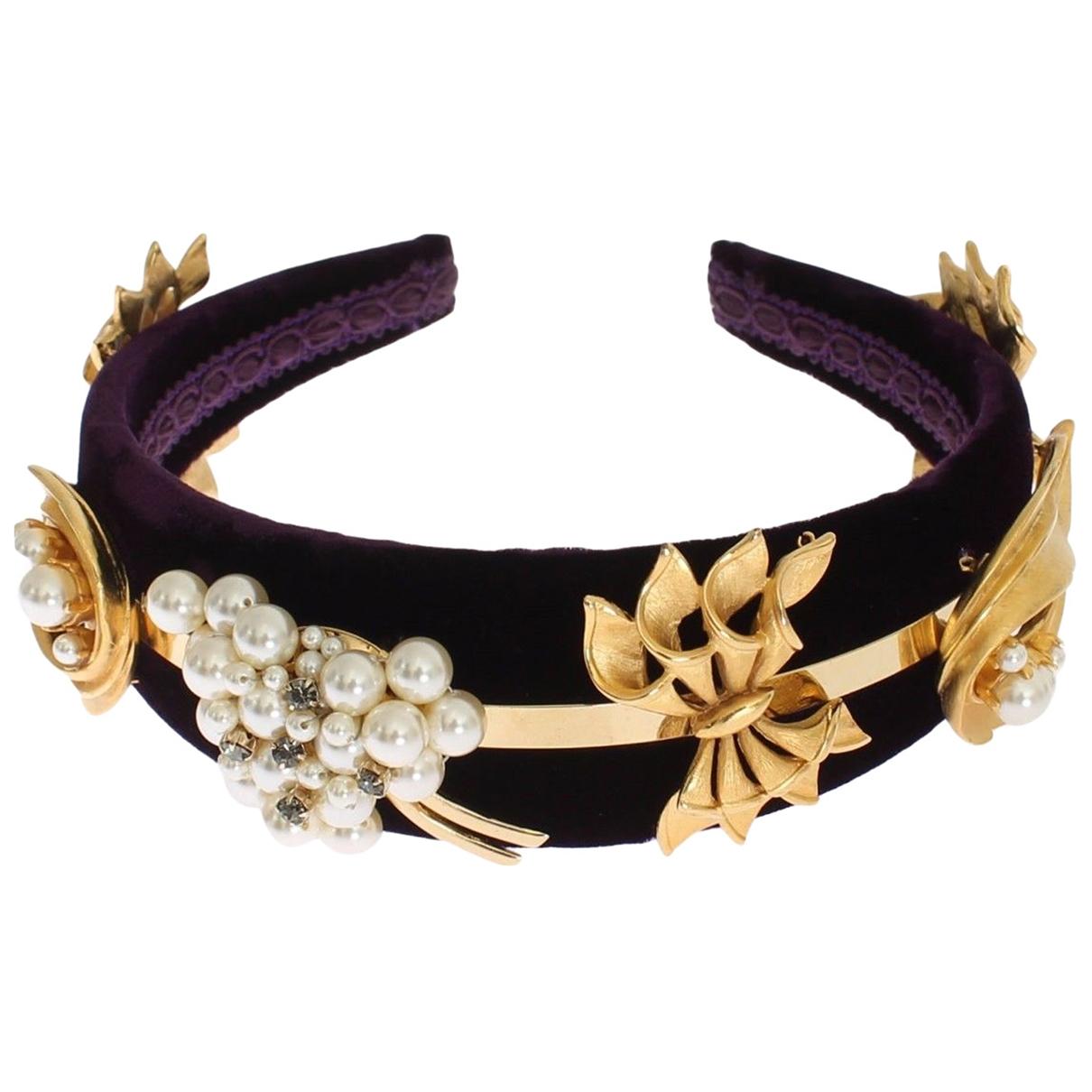 Dolce & Gabbana \N Haarschmuck in  Schwarz Leinen