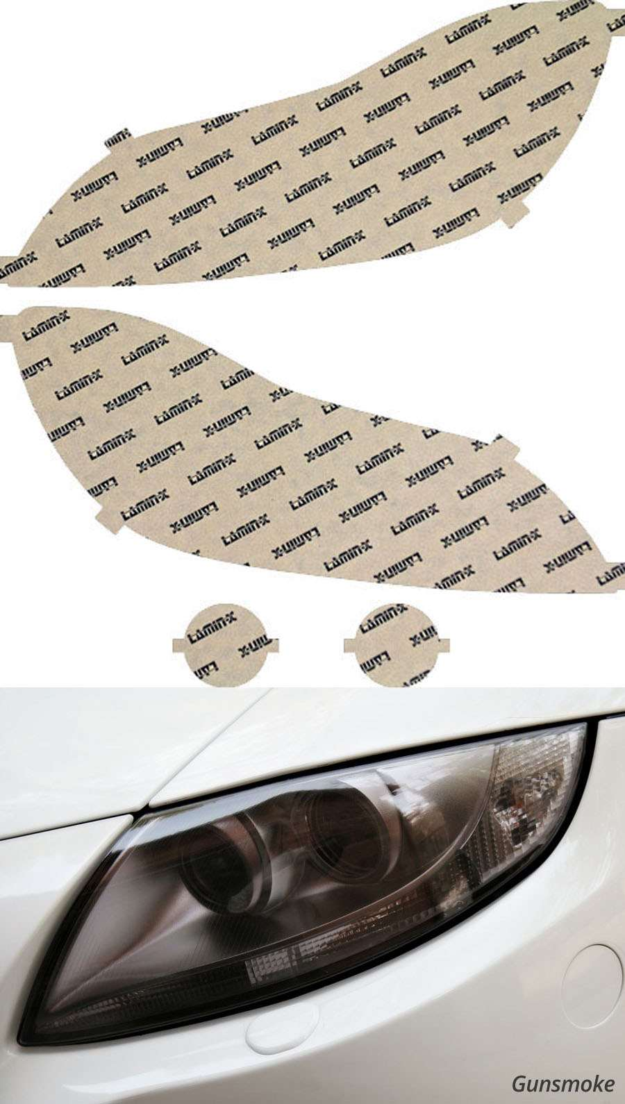 Toyota Matrix 09-14 Gunsmoke Headlight Covers Lamin-X T027G