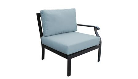 KI062b-LAS-SPA Madison Ave. Left Arm Chair with 1 Set of Snow and 1 Set of Tranquil