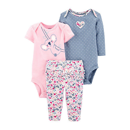 Carter's Baby Girls 3-pc. Baby Clothing Set, 6 Months , Multiple Colors