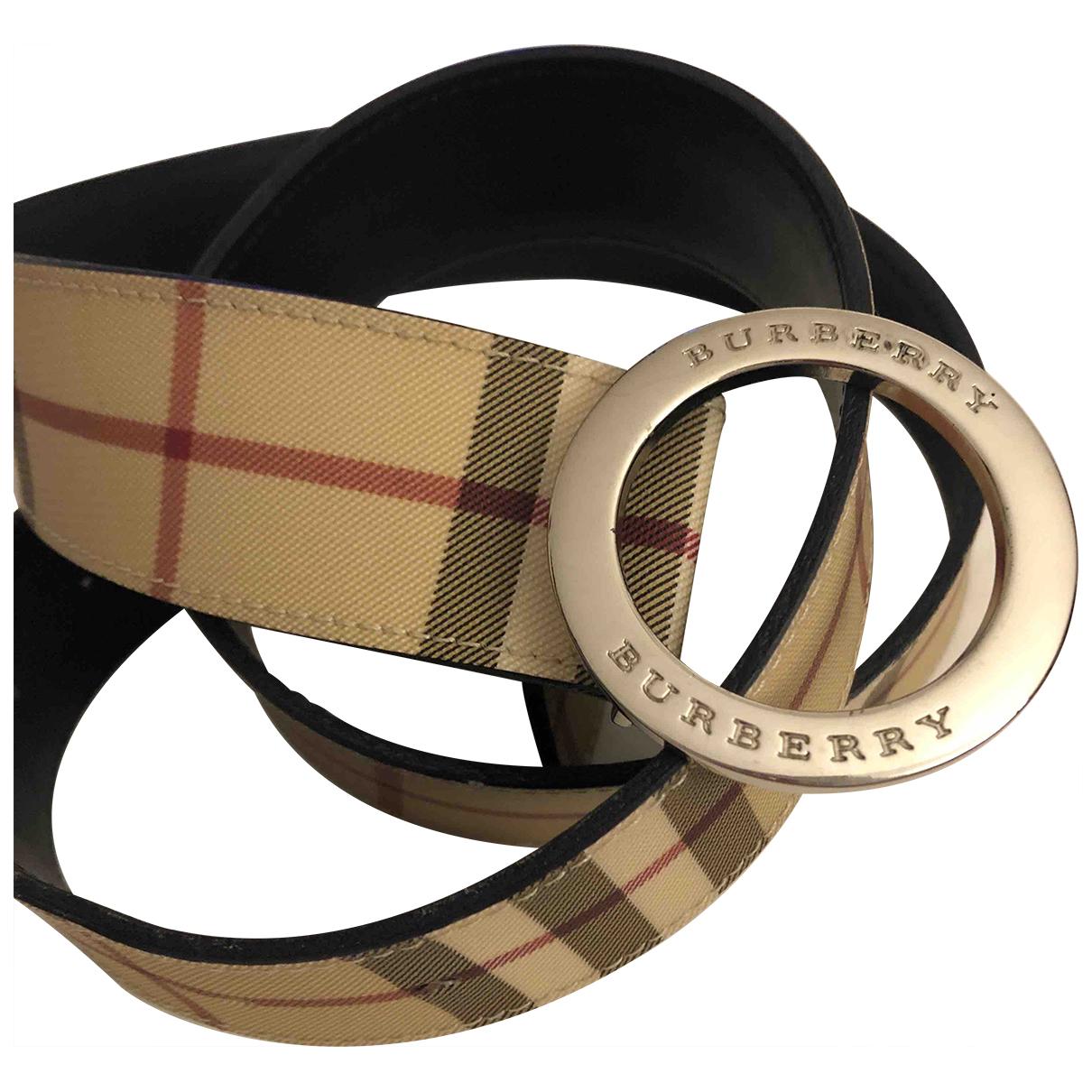 Burberry \N Beige Cloth belt for Women M International