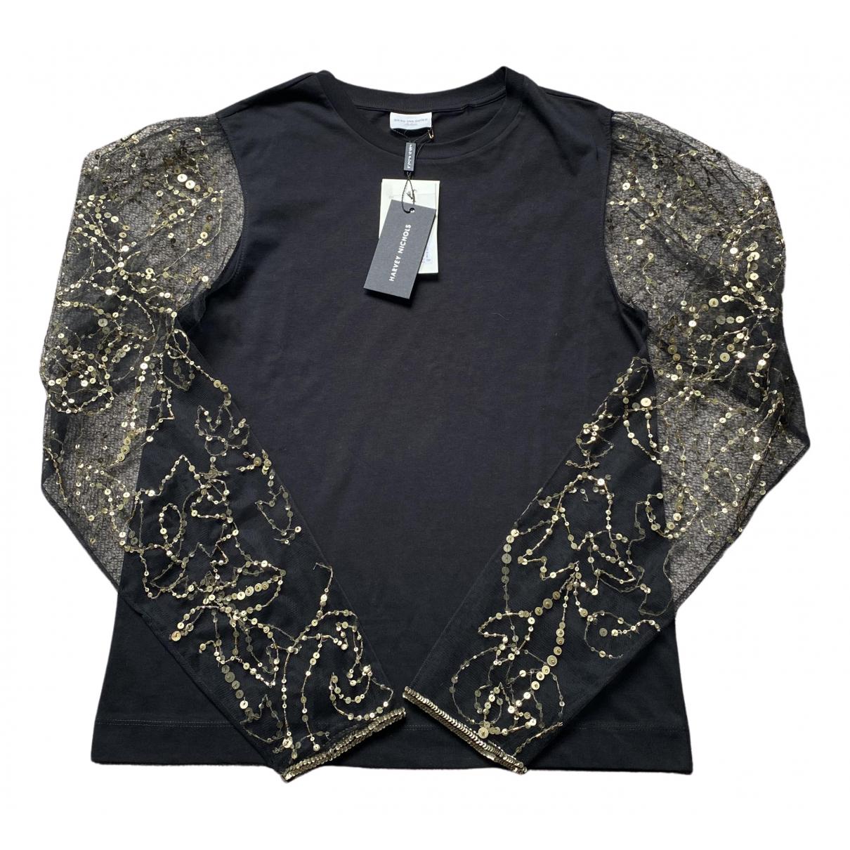 Dries Van Noten - Top   pour femme en coton - noir