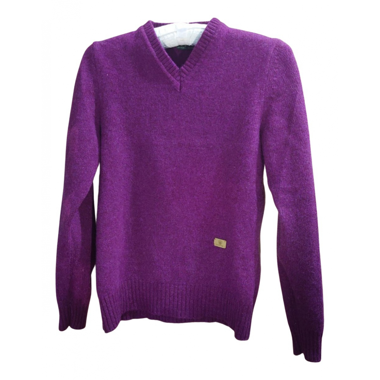 Non Signé / Unsigned N Purple Wool Knitwear for Women M International