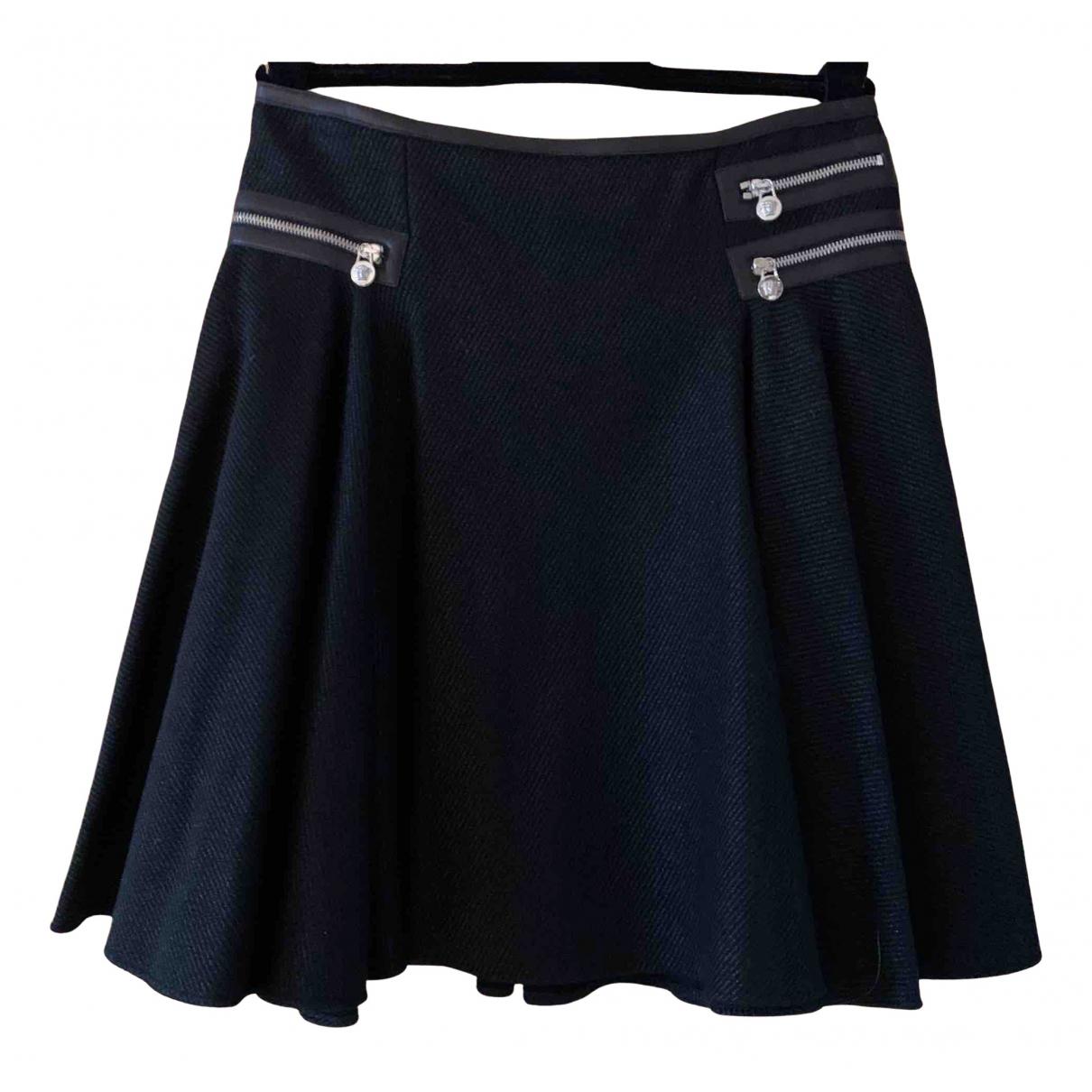 Versace N Black Wool skirt for Women 44 IT