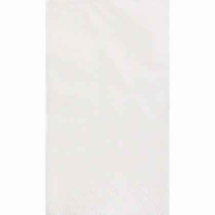 Serviettes Serviette Invité Parti Couleur unie 33 * 40cm 13 * 16In 2-Plis Blanc 20Pcs