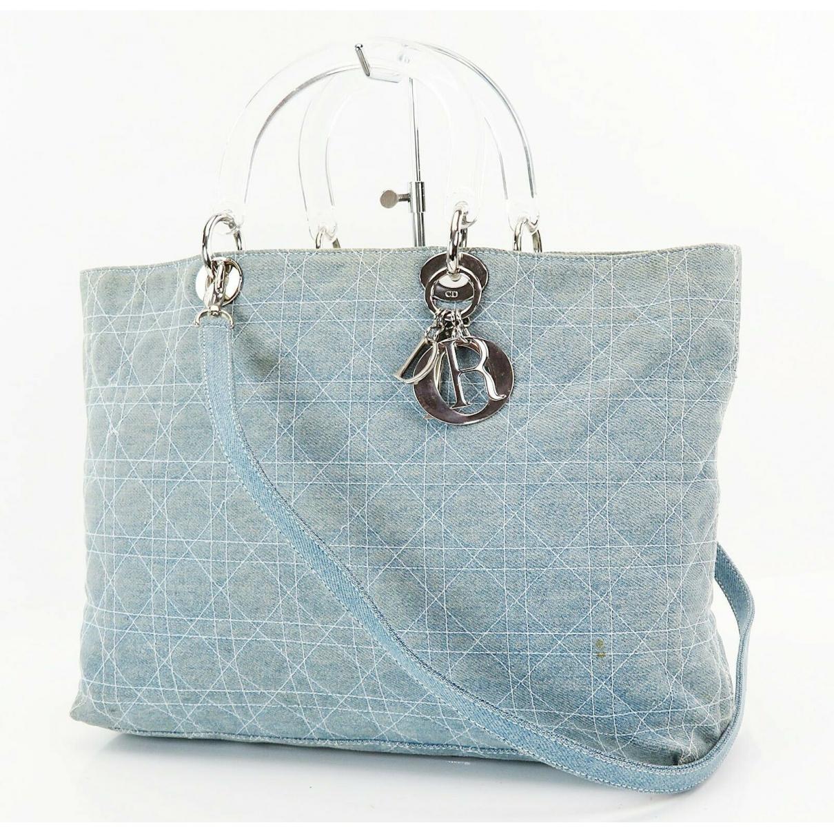 Christian Dior - Sac a main   pour femme en cuir - bleu