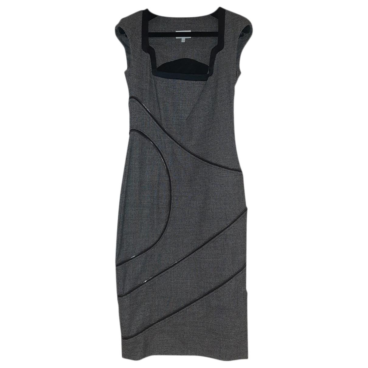 Les Hommes \N Kleid in  Grau Leinen