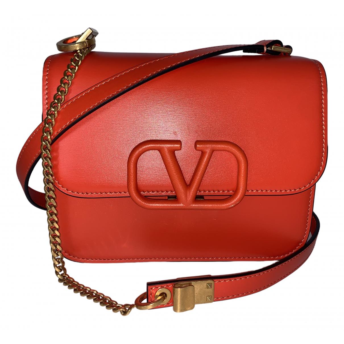 Valentino Garavani Vsling Handtasche in  Rot Leder