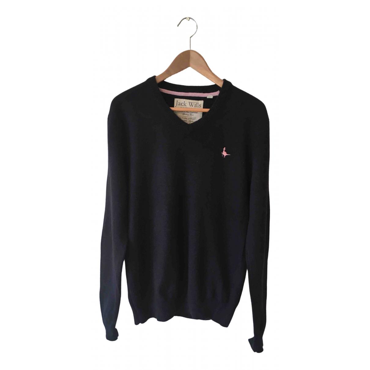Jack Wills \N Pullover.Westen.Sweatshirts  in  Marine Wolle