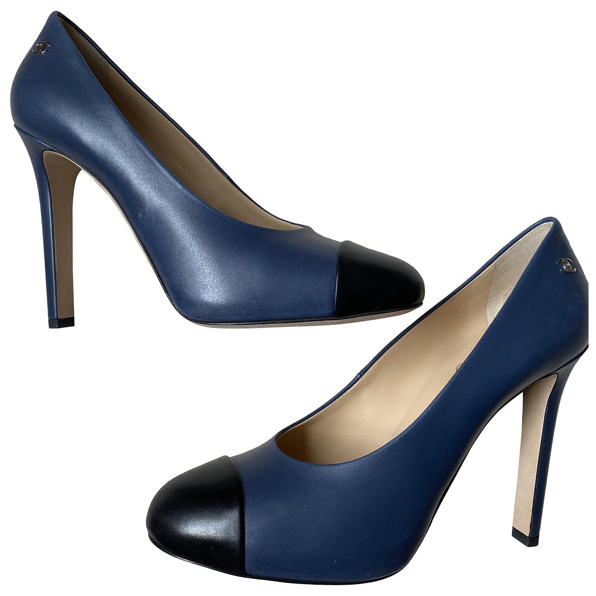 Chanel \N Black Leather Heels for Women 39 EU