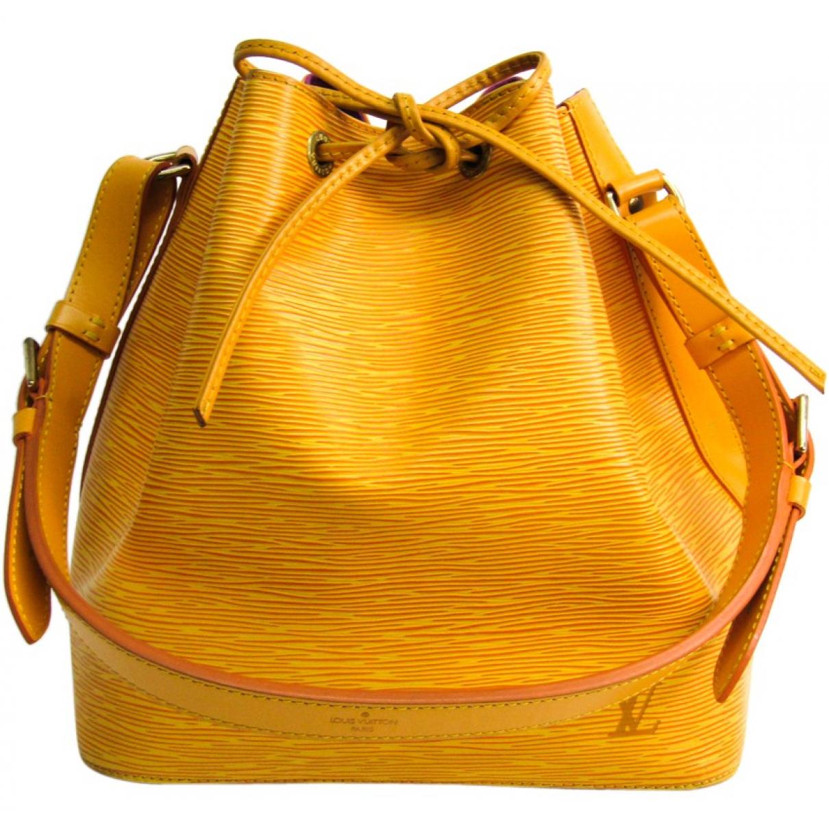 Louis Vuitton Noe Handtasche in  Gelb Leder