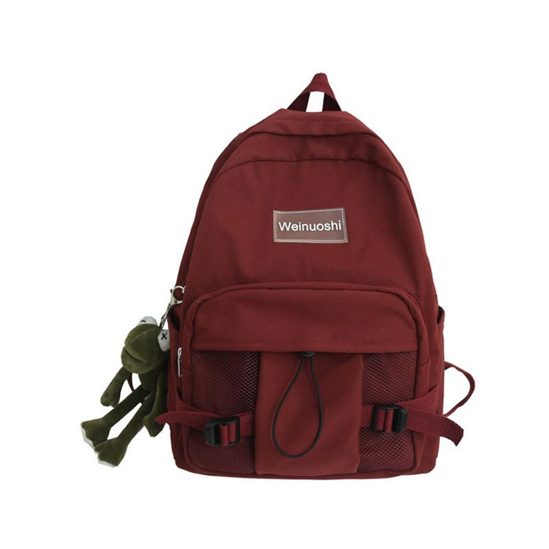 Ericdress Belt-Decorated Canvas Casual Backpacks