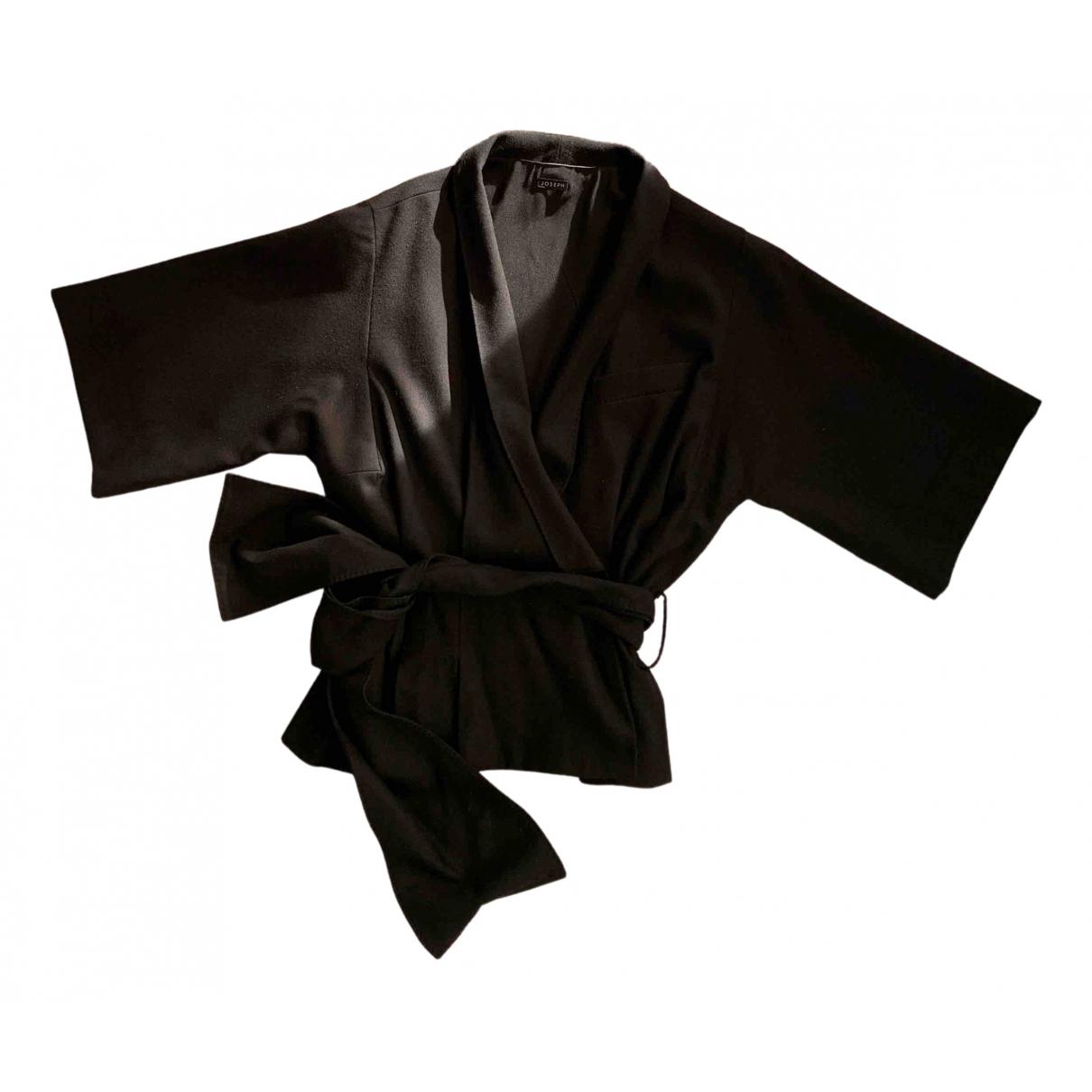 Joseph - Veste   pour femme en laine - noir
