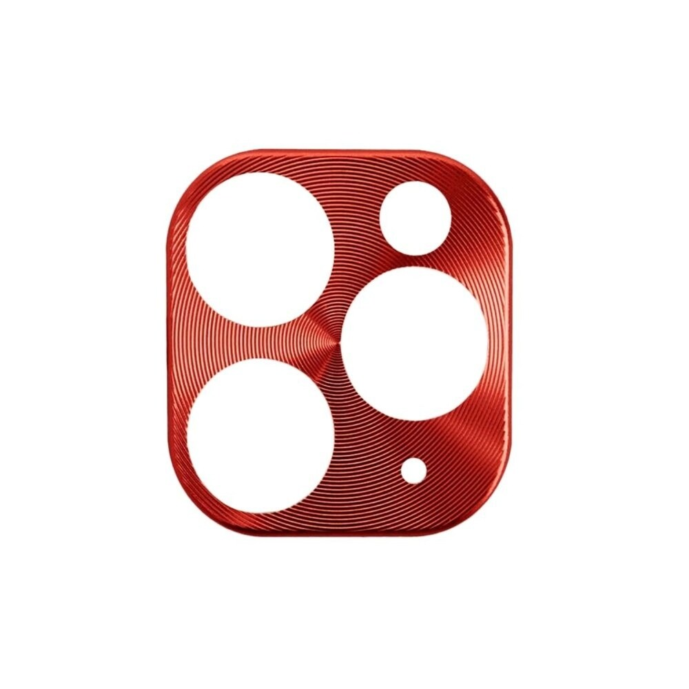 Insten Camera Lens Metal Cover Compatible With Apple iPhone 11 Pro Max/11 Pro, Red (Red)
