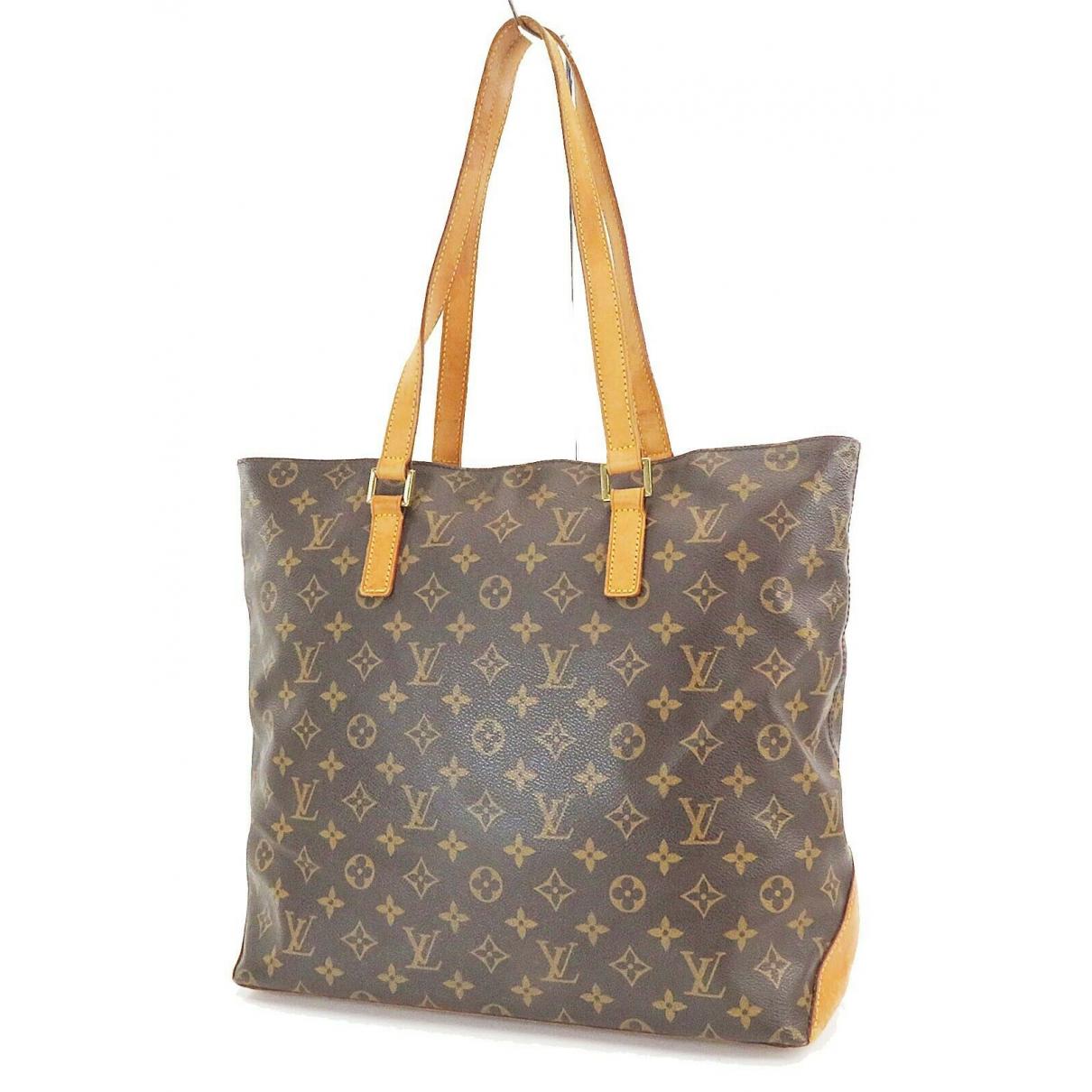 Louis Vuitton Mezzo  Handtasche in  Braun Leder