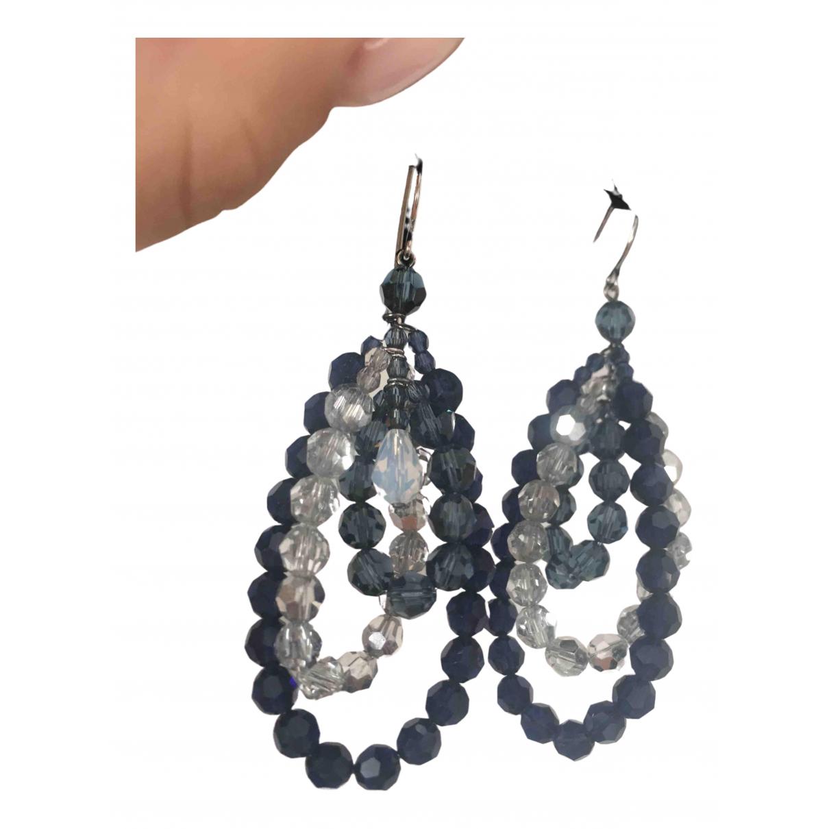 Swarovski - Boucles doreilles   pour femme en cristal - bleu
