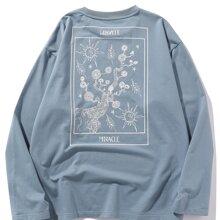 Camiseta de manga larga con estampado floral con letra