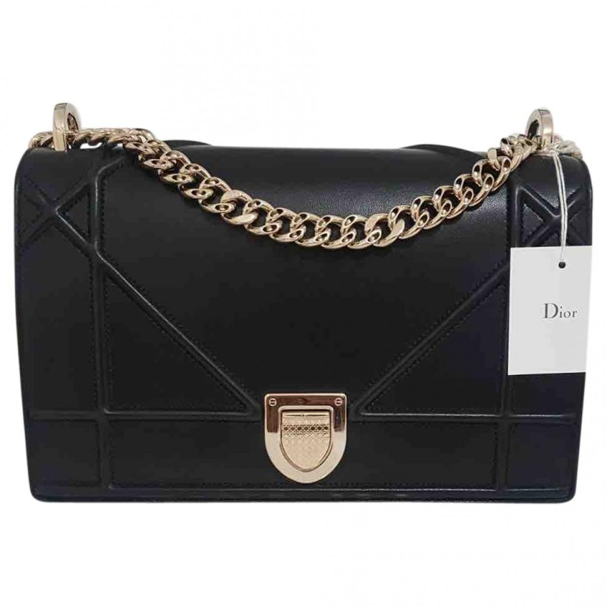 Dior - Sac a main Diorama pour femme en cuir - noir