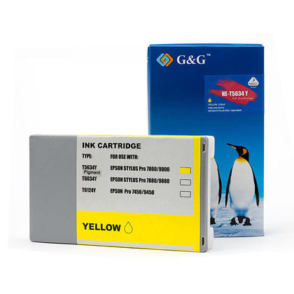 Compatible Epson T563400 T562400 Yellow Ink CartridgePigment - G&G