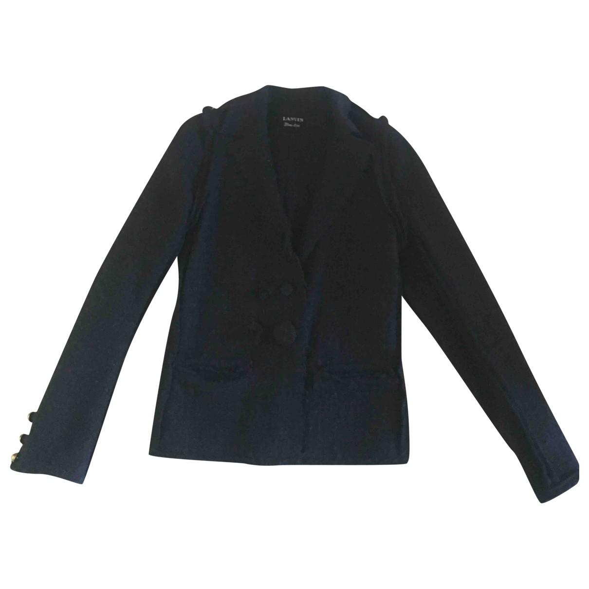 Lanvin - Veste   pour femme en tweed - noir