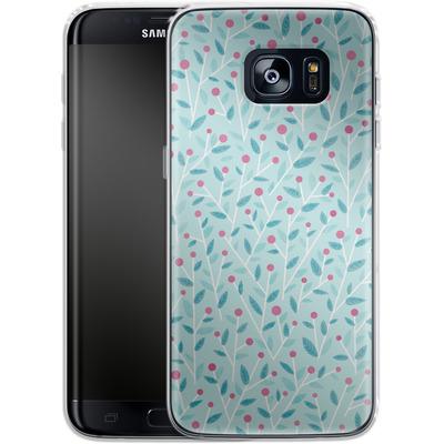 Samsung Galaxy S7 Edge Silikon Handyhuelle - Merry Berries von Little Clyde