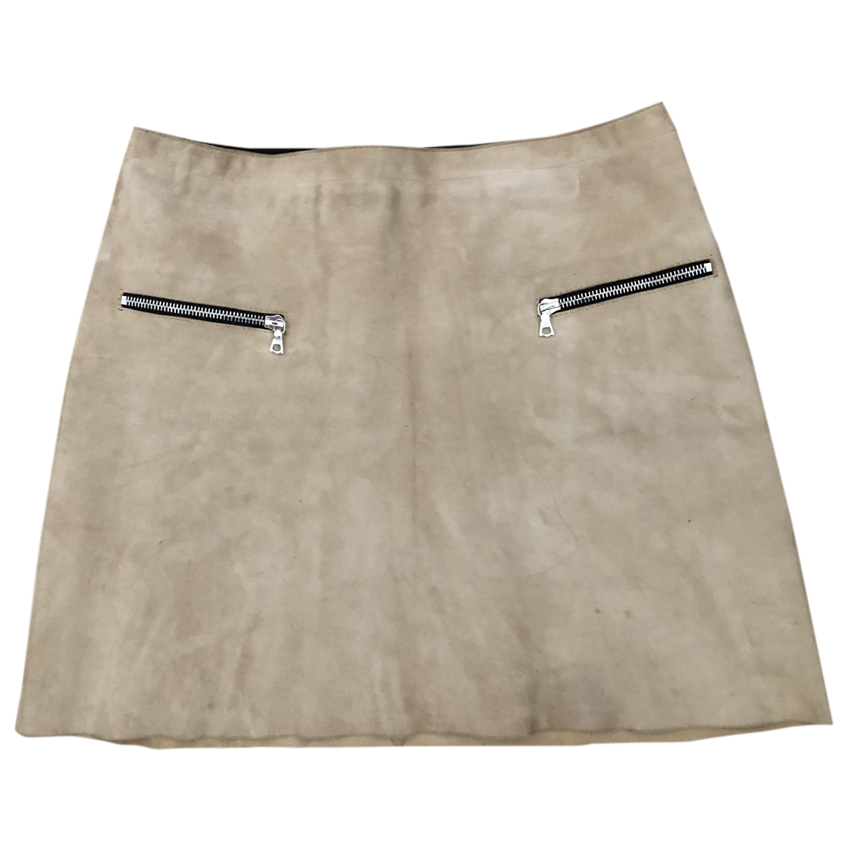 Sandro \N Beige Suede skirt for Women 36 FR