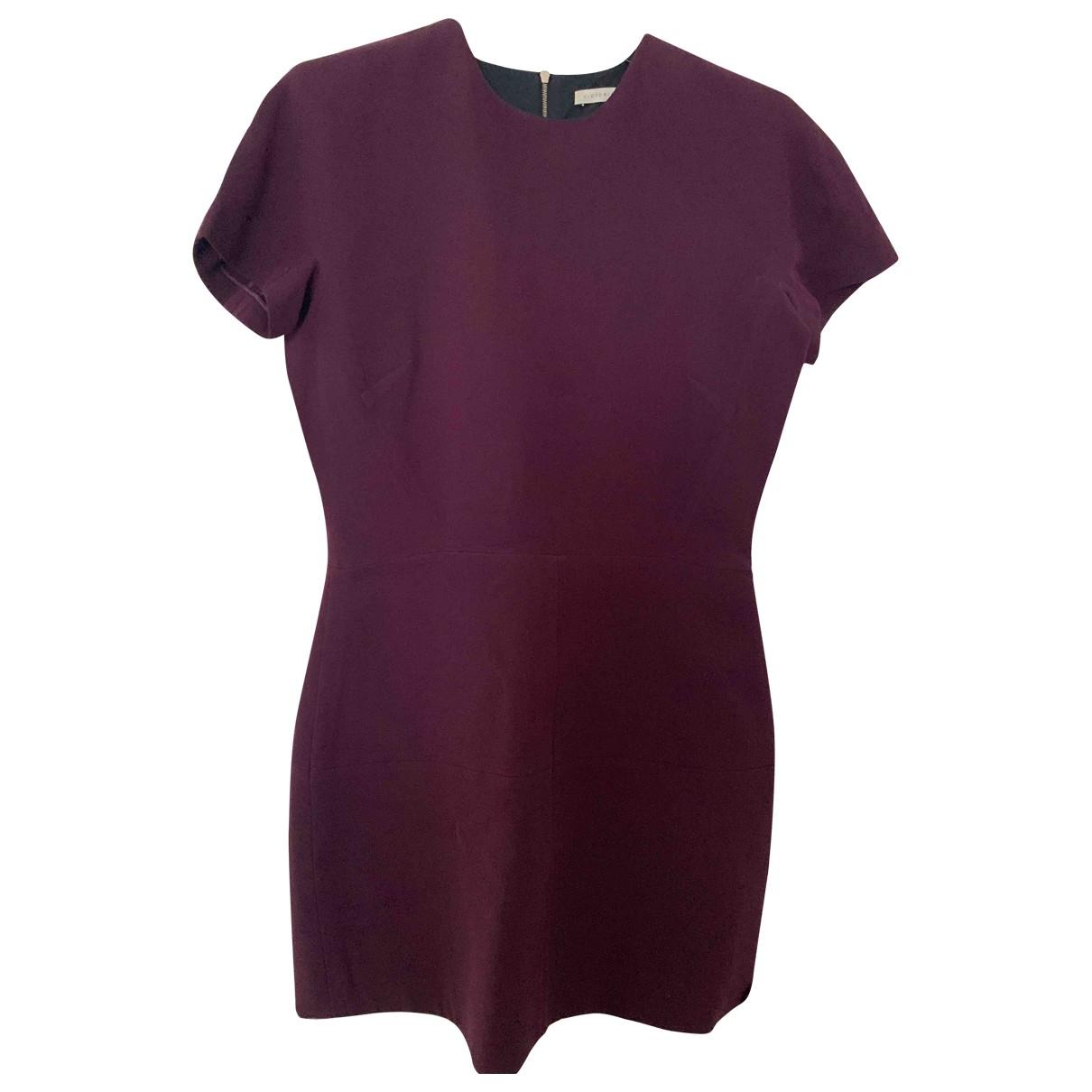 Victoria Beckham - Robe   pour femme en laine - bordeaux