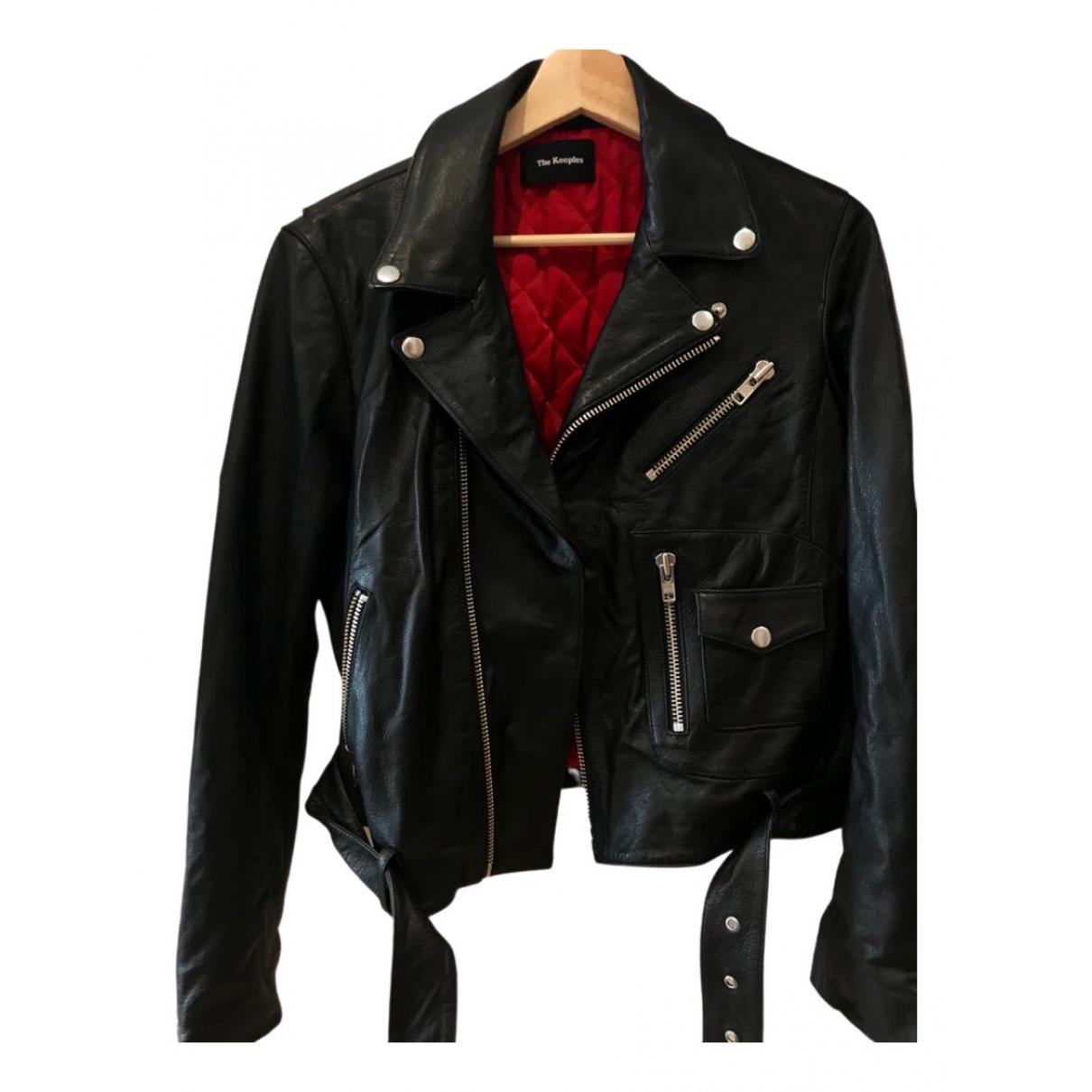The Kooples \N Black Leather Leather jacket for Women M International