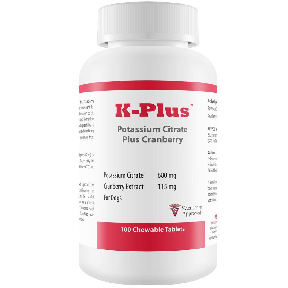K-Plus Potassium Citrate Plus Cranberry (100 Tablets)