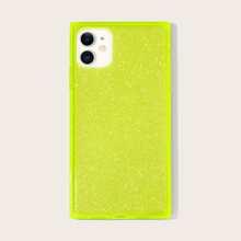 1pc Neon Green Glitter iPhone Case