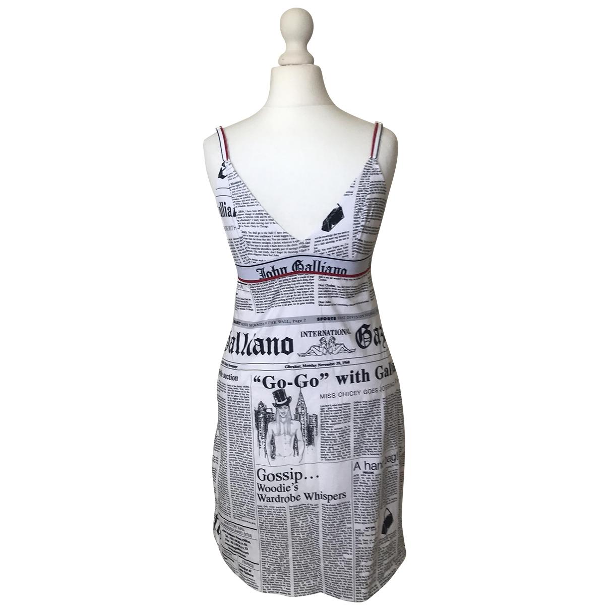 John Galliano \N Kleid in  Bunt Baumwolle