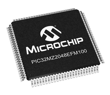 Microchip PIC32MZ2048EFM100-I/PF, 32bit MIPS® MicroAptiv™ Microcontroller, PIC32, 200MHz, 160 (Boot Flash) kB, 2.048