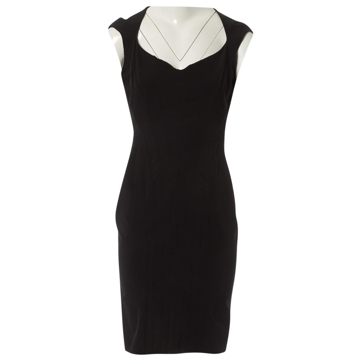 Mugler \N Kleid in  Schwarz Synthetik