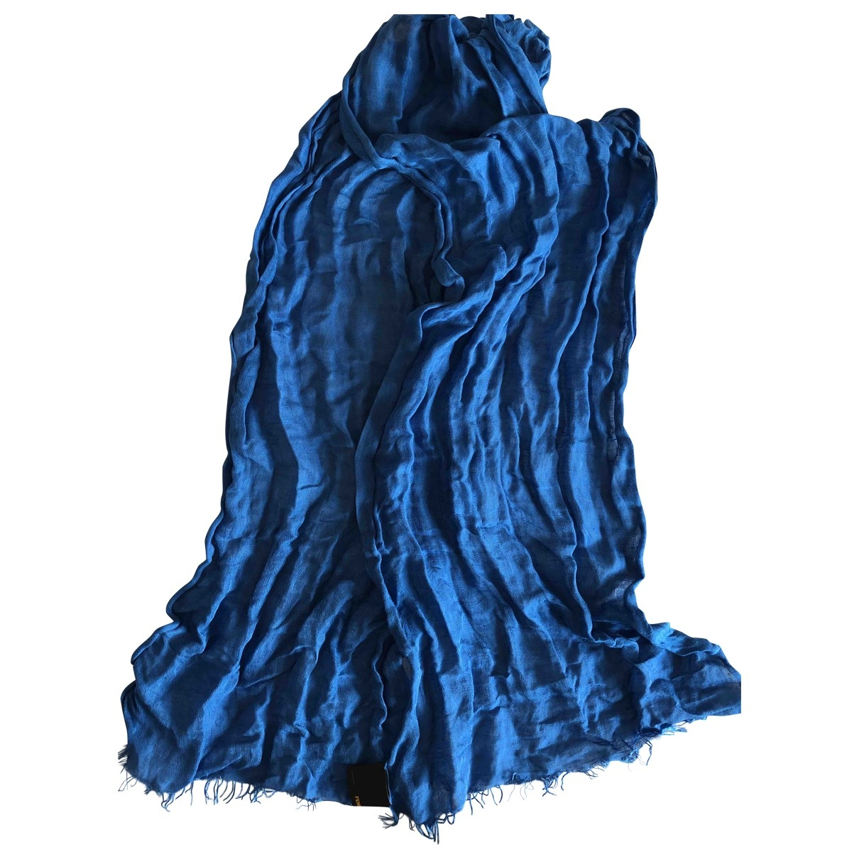 Fendi \N Blue Linen scarf & pocket squares for Men \N