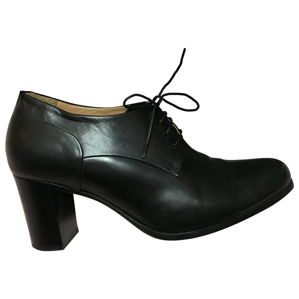 Heschung - Derbies   pour femme en cuir - noir