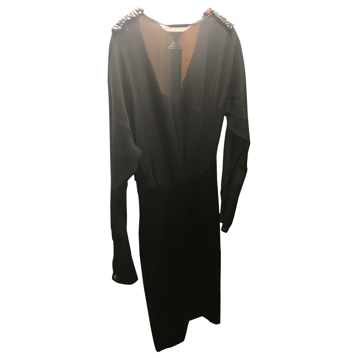 Pinko - Robe   pour femme en soie - noir