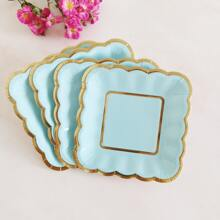 8pcs Hot Stamping Disposable Plate
