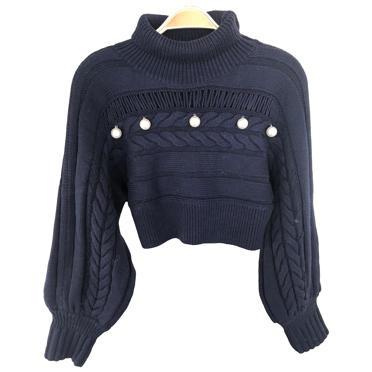 - Pull   pour femme en laine - marine