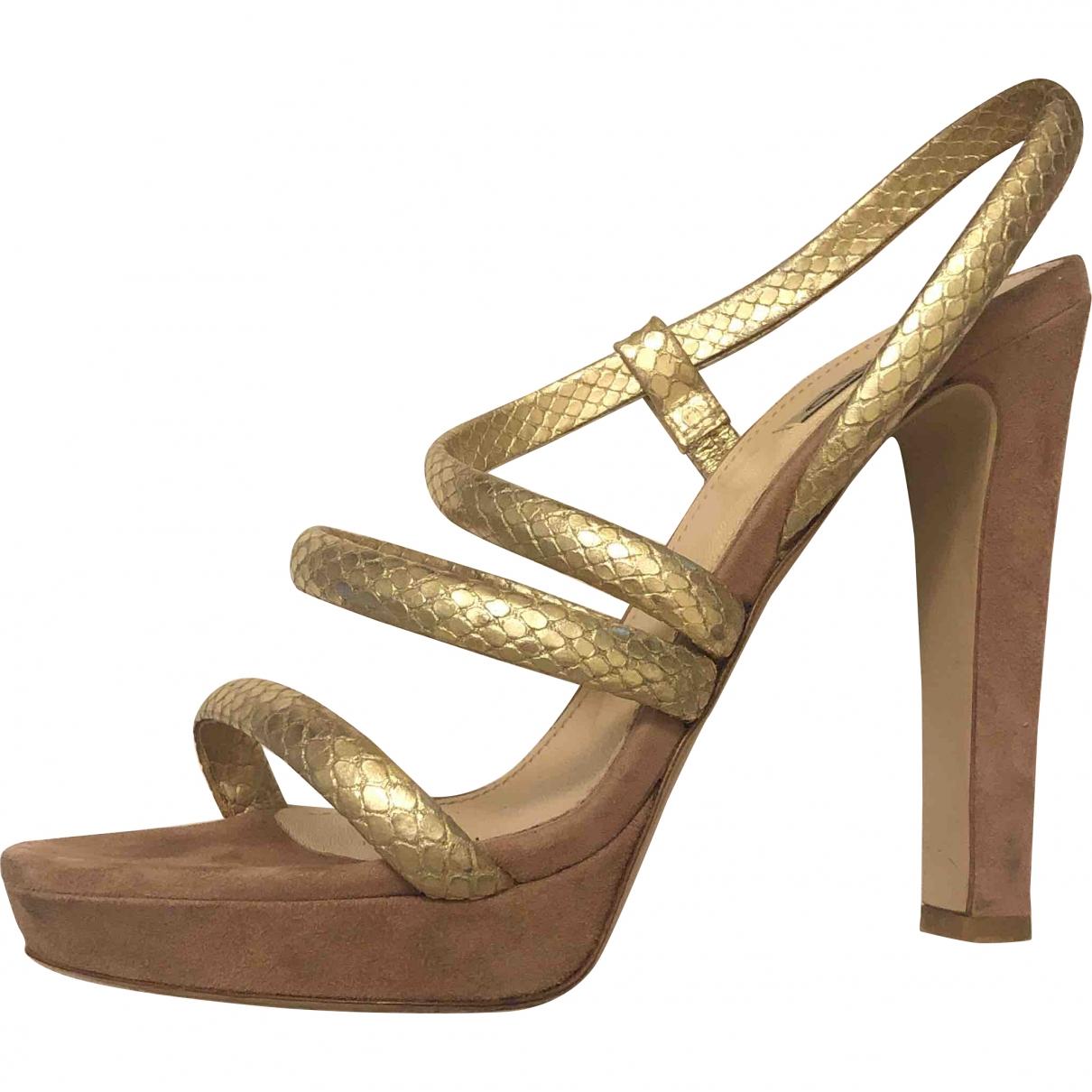 Pinko \N Gold Suede Heels for Women 39 EU