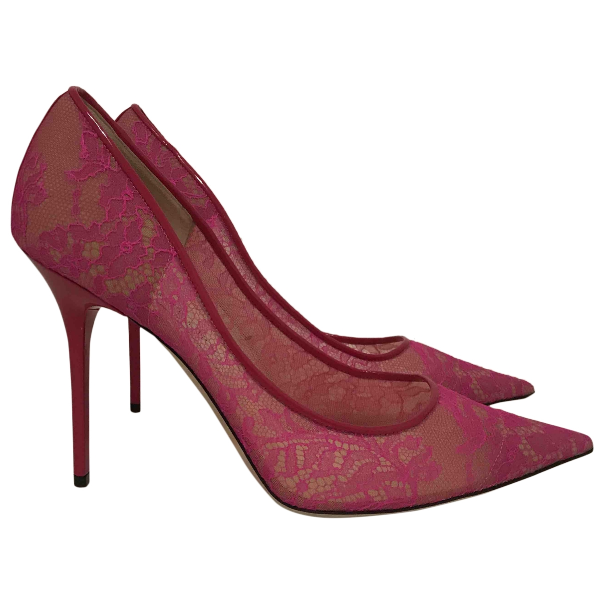 Jimmy Choo \N Pink Cloth Heels for Women 41 EU